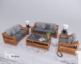 Sofa gỗ tự nhiên HCTN02