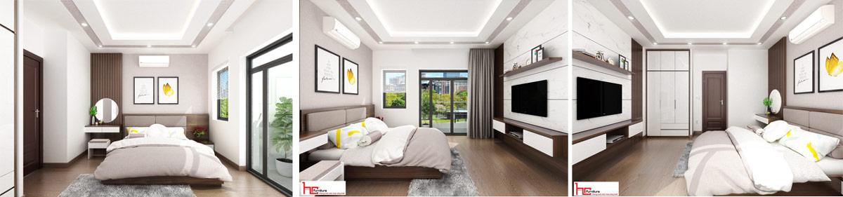 Thiết kế nội thất Hải Phòng - Thiết kế phòng ngủ master Hải Phòng