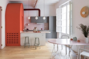 Chiêm ngưỡng những thiết kế nội thất sử dụng màu cam san hô