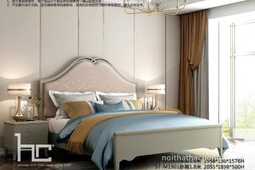 Đẳng cấp với giường ngủ phong cách tân cổ điển