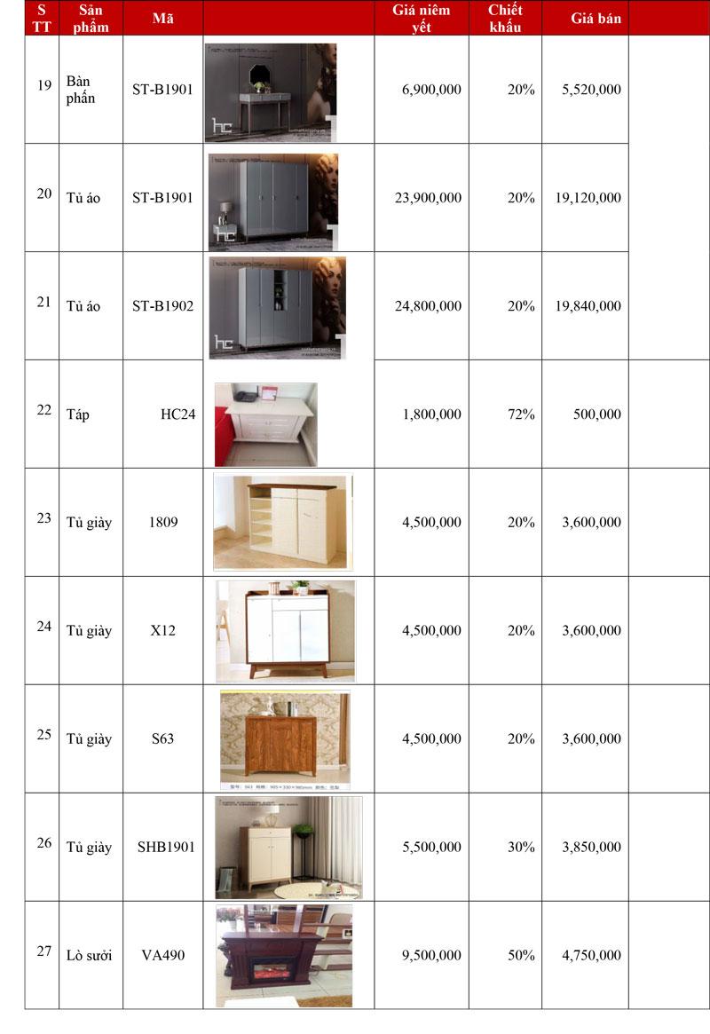Khuyến mại nội thất Hải Phòng gia rẻ 2020 3