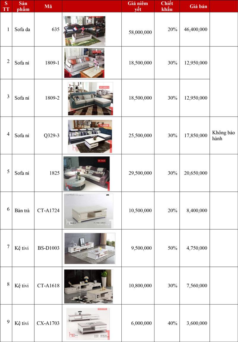 Khuyến mại nội thất Hải Phòng gia rẻ 2020