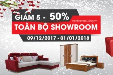 [CTKM] Giảm đến 50% toàn bộ showroom nhân giáng sinh và năm mới 2018