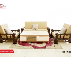 Sofa gỗ tự nhiên cao cấp HCTN008