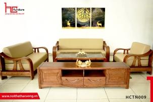 Sofa gỗ tự nhiên cao cấp HCTN009