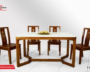 Bộ bàn ghế ăn gỗ tự nhiên T1712