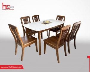Bộ bàn ghế ăn gỗ tự nhiên T1711