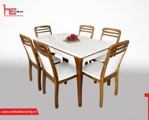 Bộ bàn ghế ăn hiện đại V6
