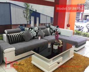 Sofa da pha nỉ B816-2
