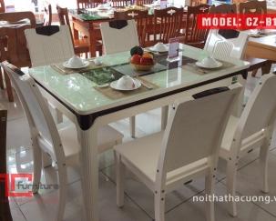 Bộ bàn ăn + 6 ghế CZB1608