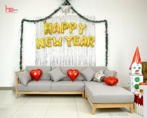 Sofa gỗ đệm nỉ đẹp HCTN006